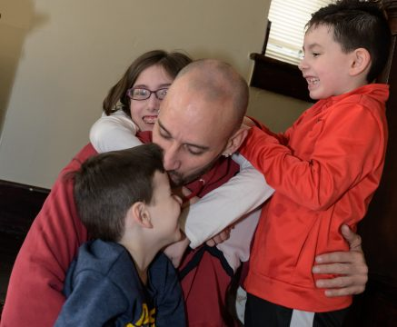 Chris Helton is drug free, smoke free, and has full custody of his 3 children - thanks to HVAF.