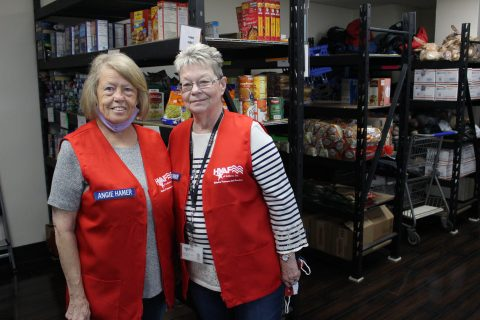 Becky and Angie are volunteers for HVAF - Helping Veterans And Families
